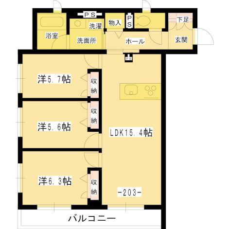 仮)調布市国領町7丁目SHM 203 間取り